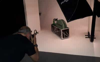 Photo shoot for new box graphics